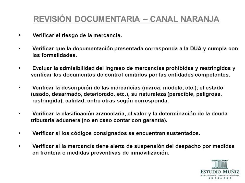 REVISIÓN DOCUMENTARIA – CANAL NARANJA