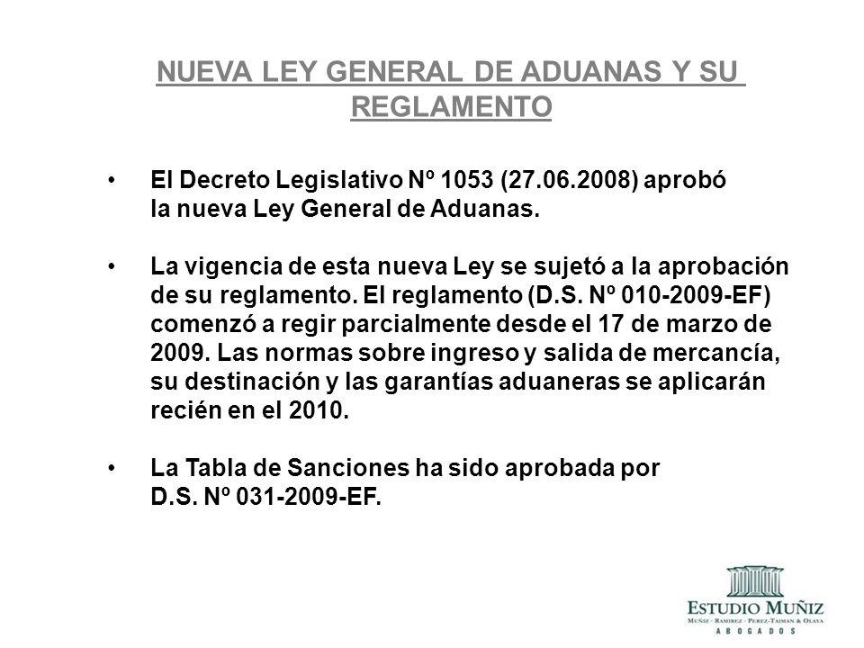 NUEVA LEY GENERAL DE ADUANAS Y SU