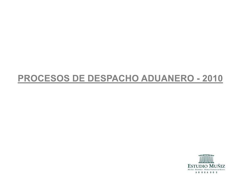PROCESOS DE DESPACHO ADUANERO - 2010