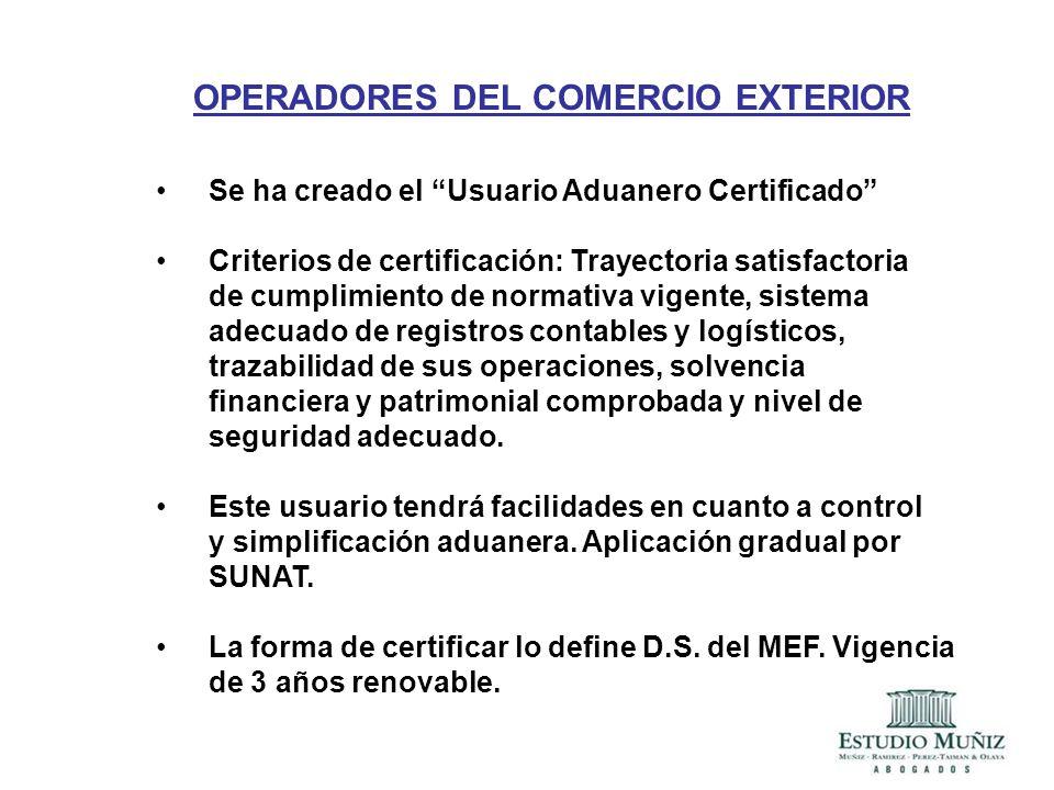 OPERADORES DEL COMERCIO EXTERIOR