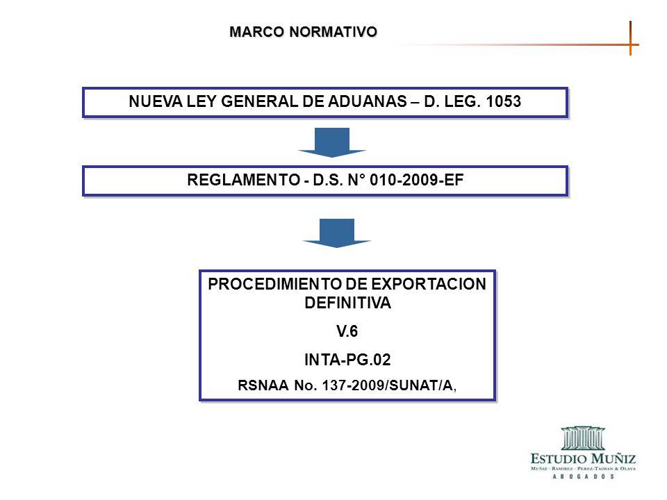 NUEVA LEY GENERAL DE ADUANAS – D. LEG. 1053