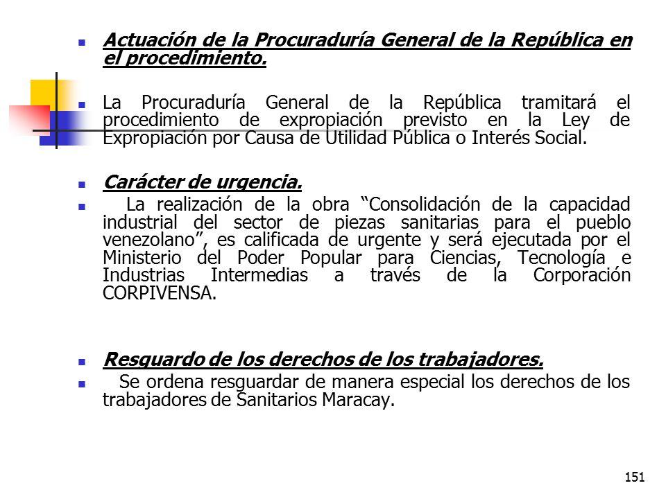 Actuación de la Procuraduría General de la República en el procedimiento.