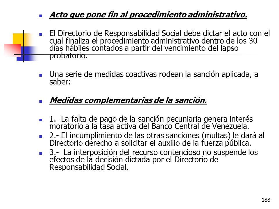 Acto que pone fin al procedimiento administrativo.