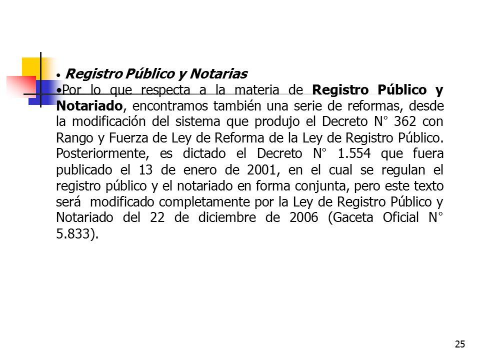 Registro Público y Notarias