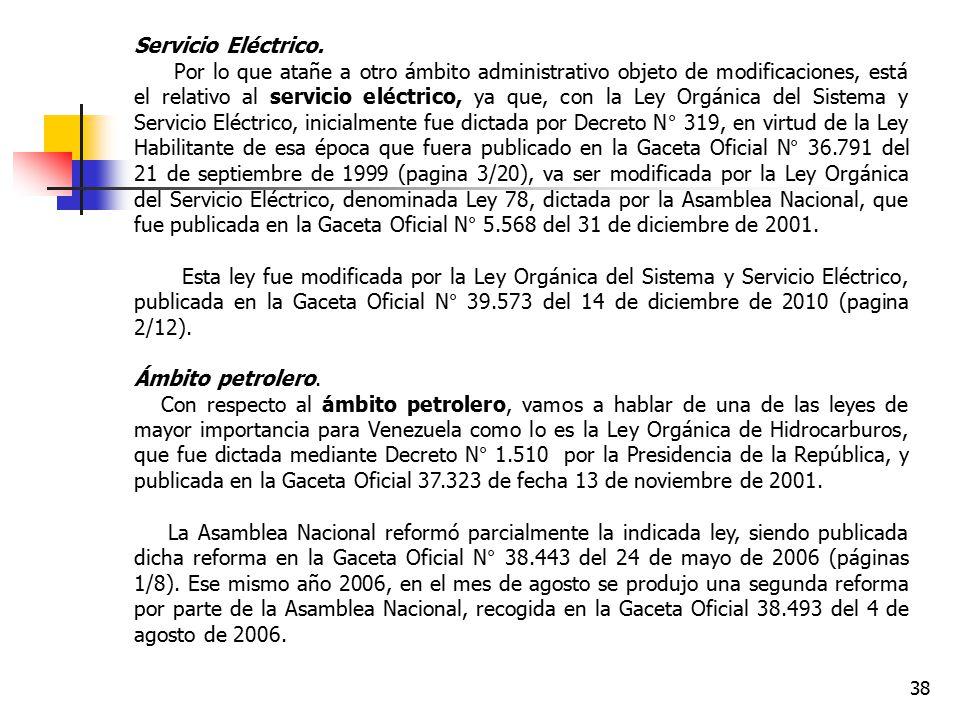 Servicio Eléctrico.