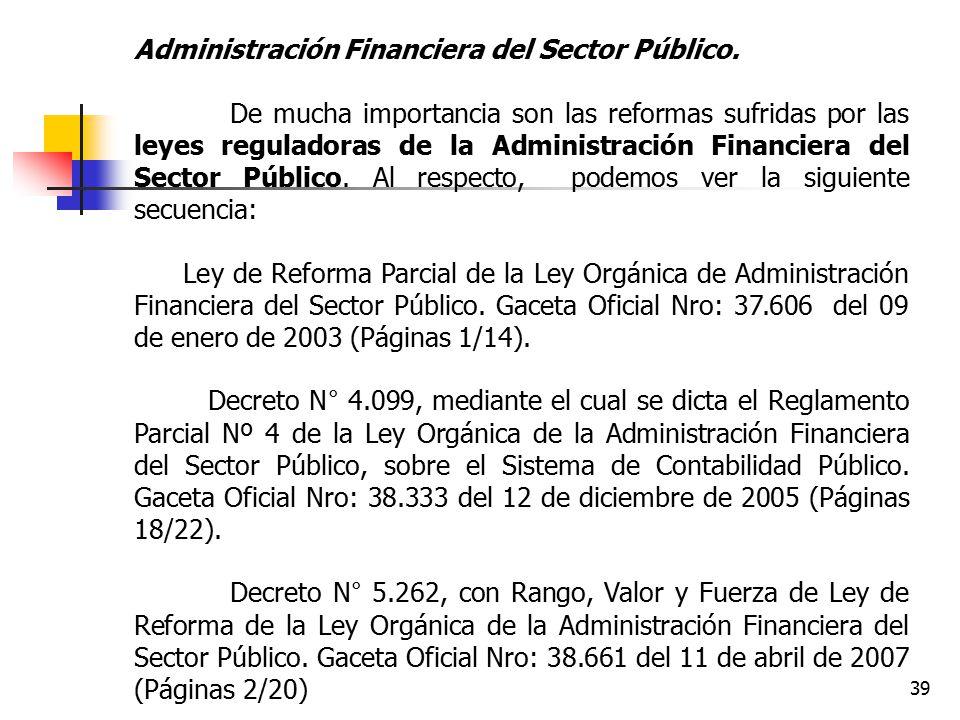 Administración Financiera del Sector Público.