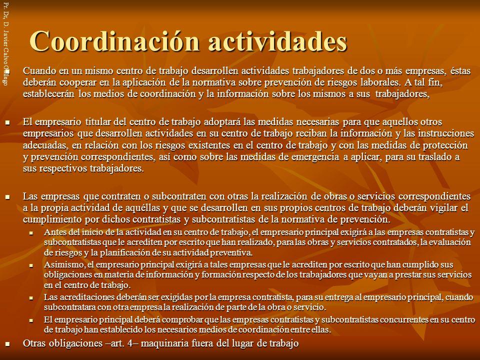Coordinación actividades