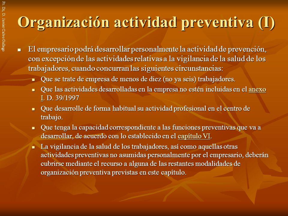 Organización actividad preventiva (I)