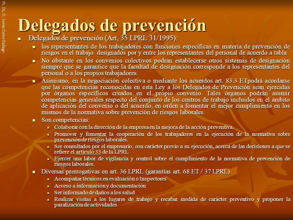 Delegados de prevención