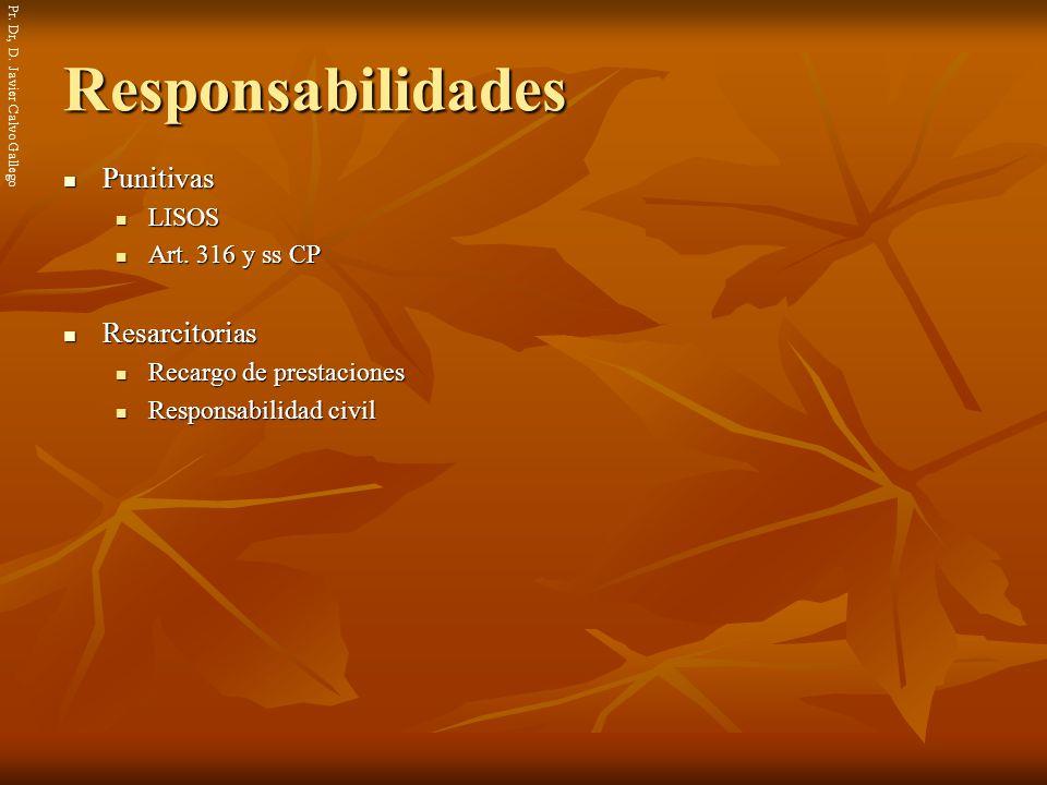 Responsabilidades Punitivas Resarcitorias LISOS Art. 316 y ss CP