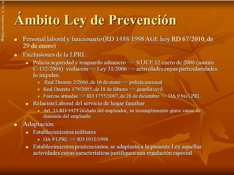 Ámbito Ley de Prevención