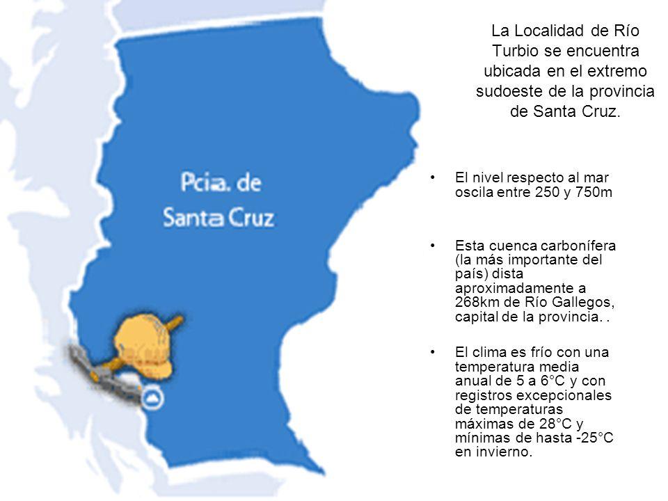 La Localidad de Río Turbio se encuentra ubicada en el extremo sudoeste de la provincia de Santa Cruz.