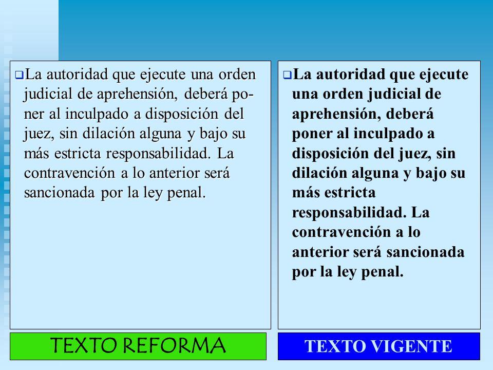 TEXTO REFORMA TEXTO VIGENTE