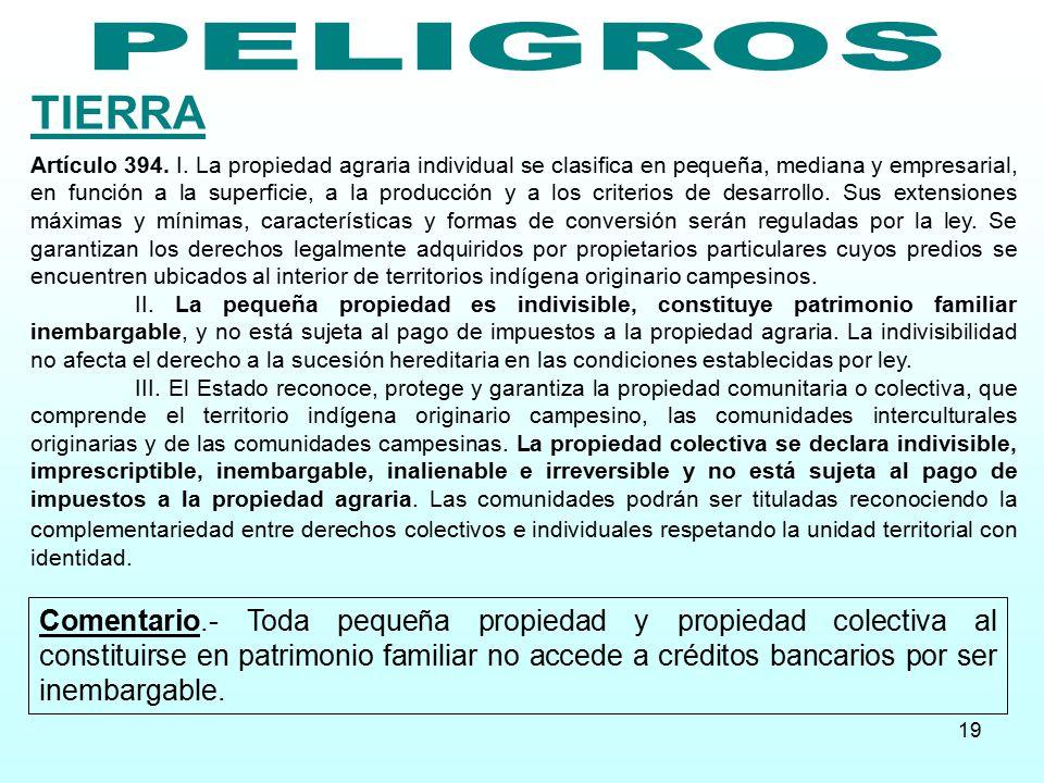PELIGROS TIERRA.