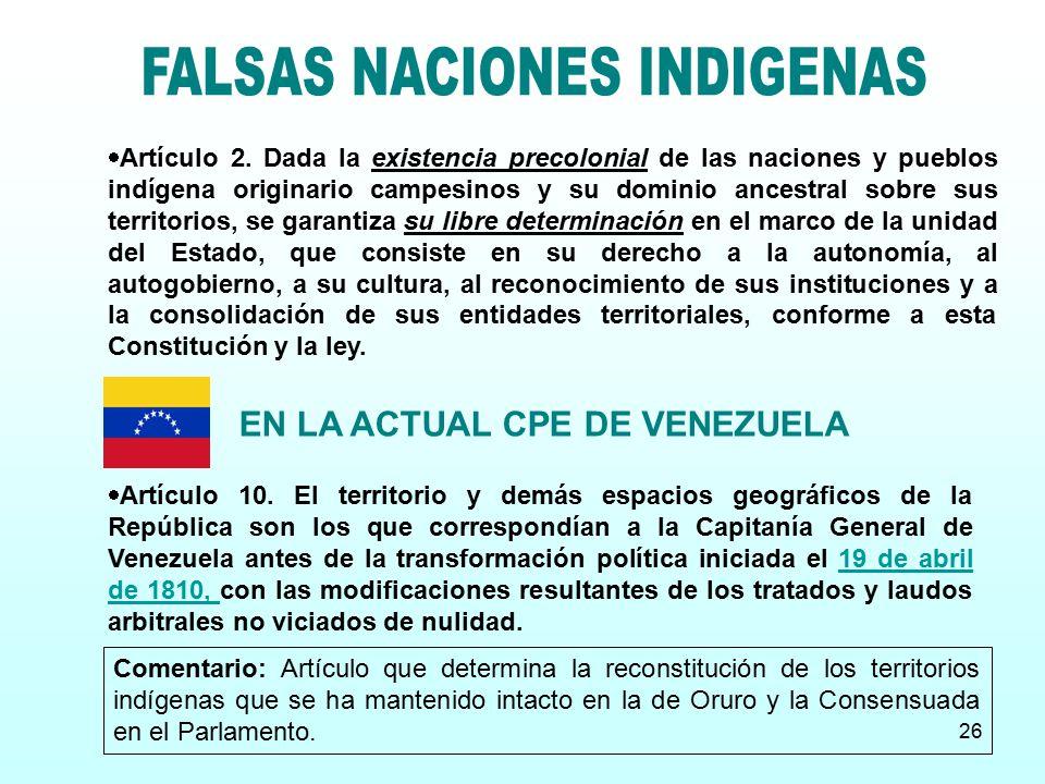 EN LA ACTUAL CPE DE VENEZUELA