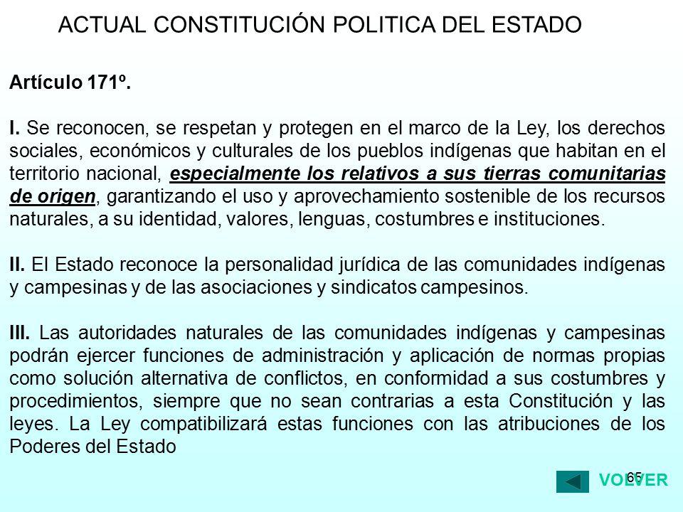 ACTUAL CONSTITUCIÓN POLITICA DEL ESTADO