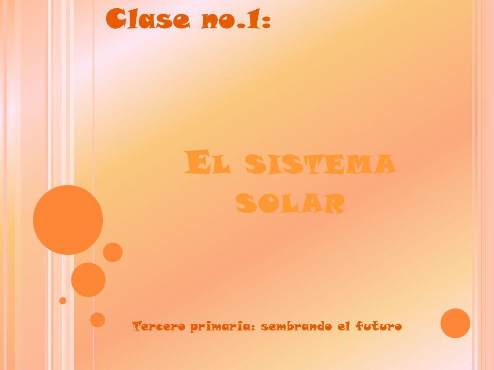 Clase no.1: El sistema solar Tercero primaria: sembrando el futuro