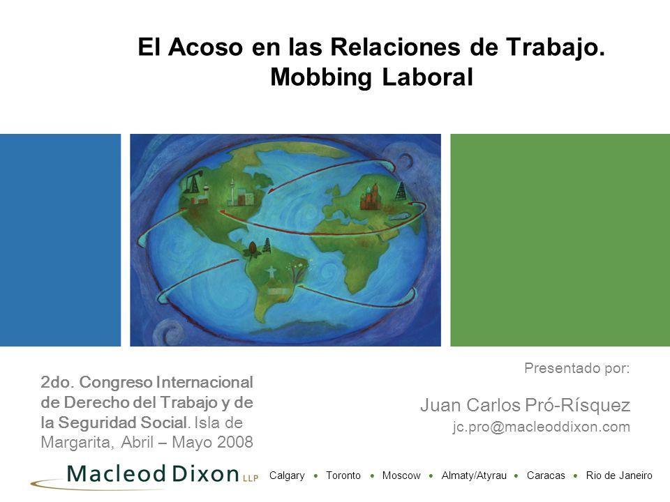 El Acoso en las Relaciones de Trabajo. Mobbing Laboral
