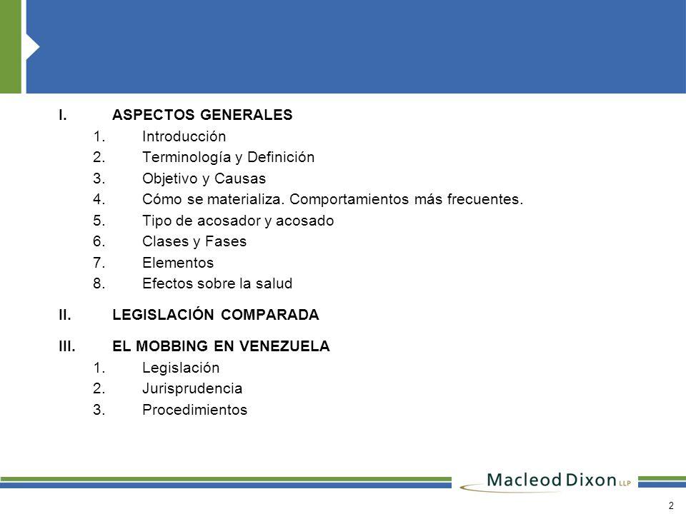 ASPECTOS GENERALES Introducción. Terminología y Definición. Objetivo y Causas. Cómo se materializa. Comportamientos más frecuentes.