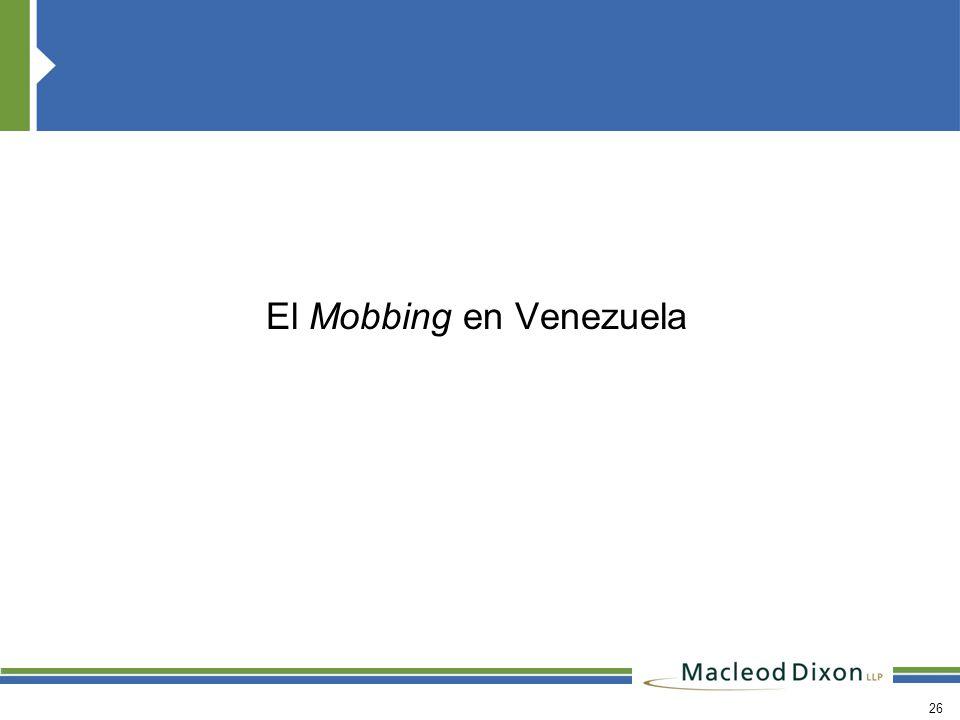 El Mobbing en Venezuela
