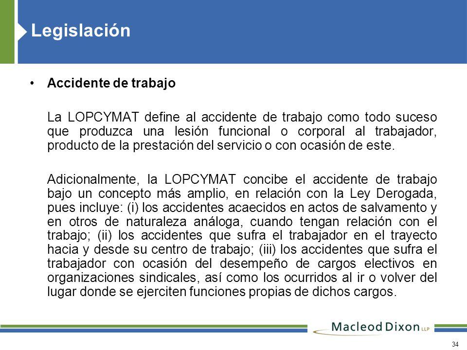 Legislación Accidente de trabajo