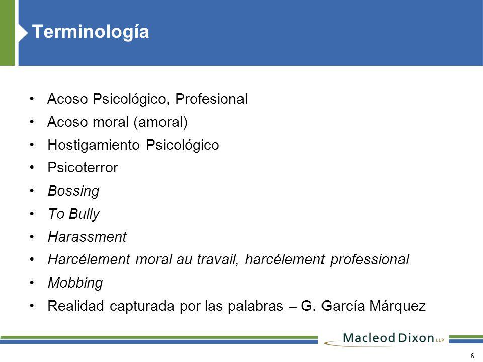 Terminología Acoso Psicológico, Profesional Acoso moral (amoral)