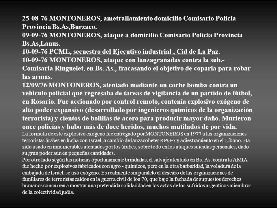 10-09-76 PCML, secuestro del Ejecutivo industrial , Cid de La Paz.
