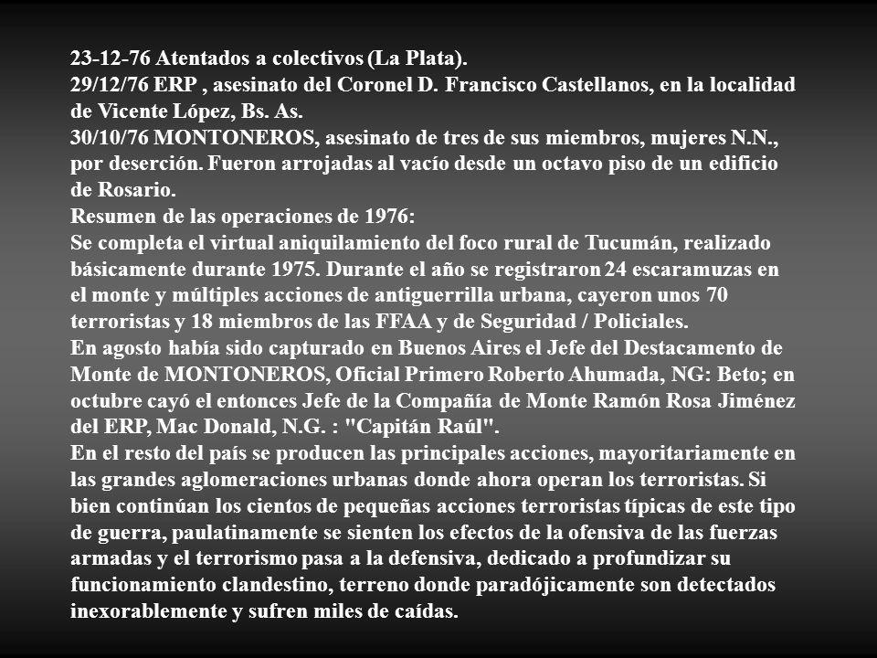 23-12-76 Atentados a colectivos (La Plata).