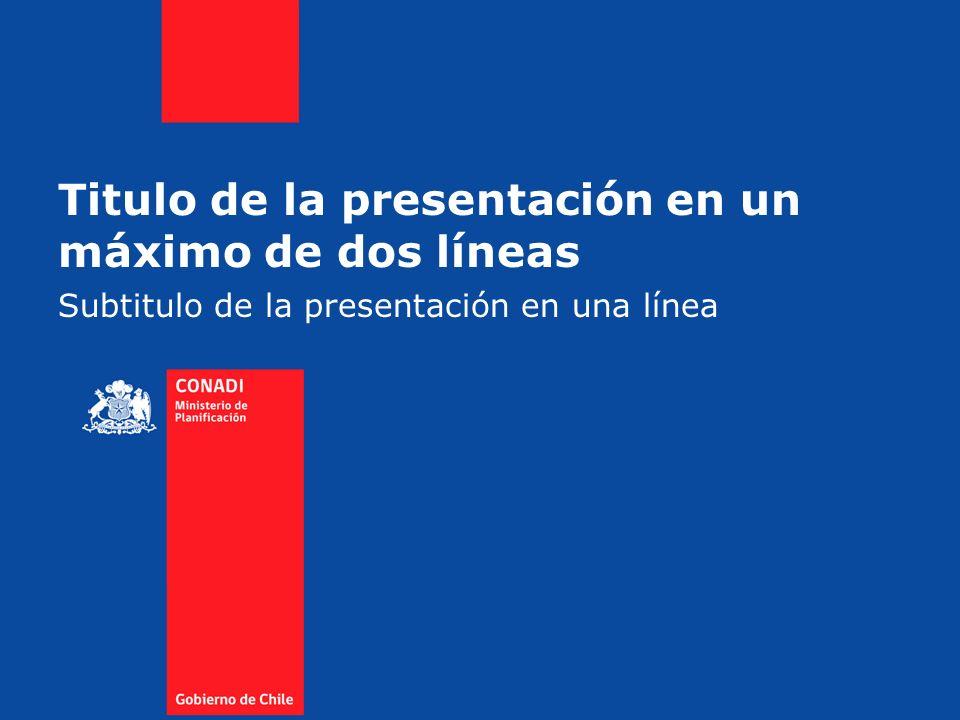 Subtitulo de la presentación en una línea