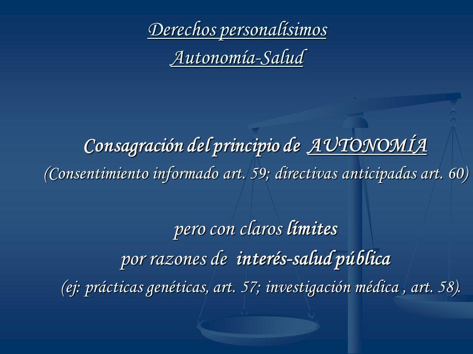 Derechos personalísimos Autonomía-Salud