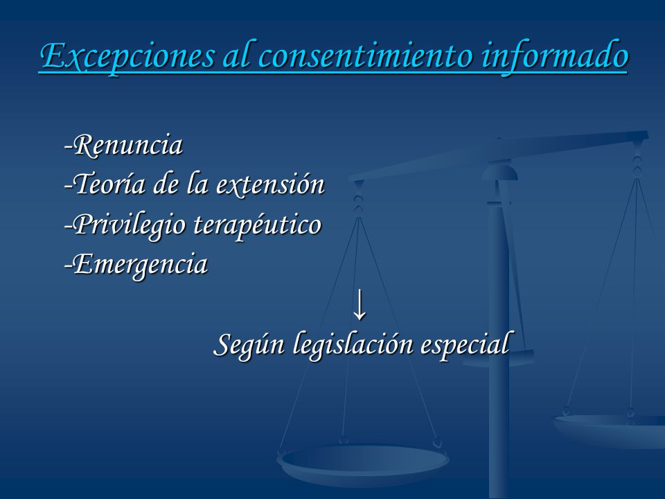 Excepciones al consentimiento informado