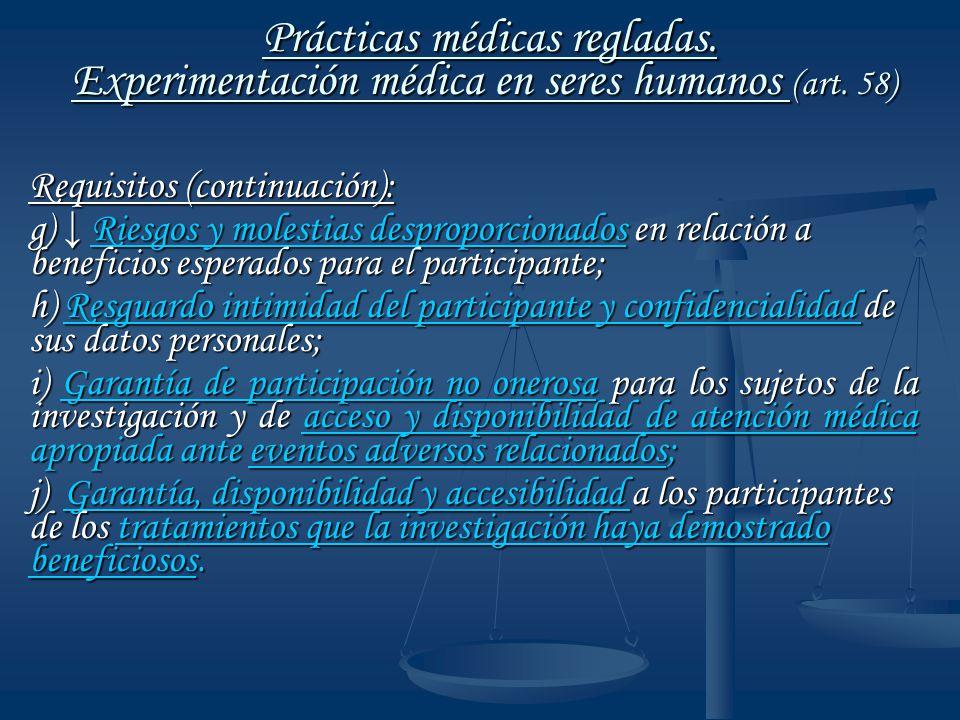 Prácticas médicas regladas