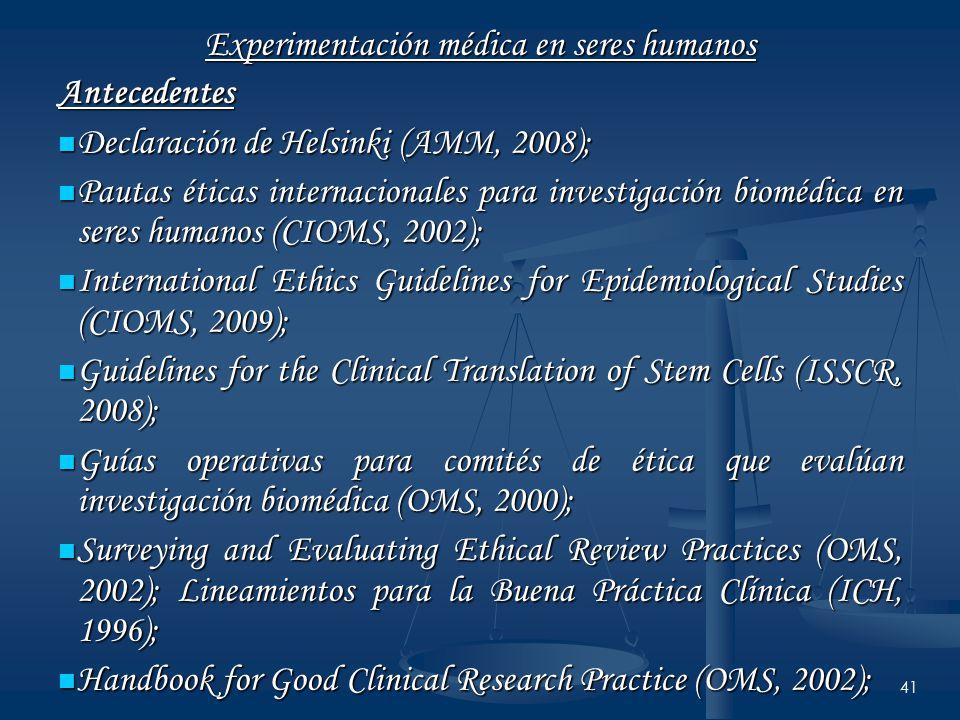 Experimentación médica en seres humanos