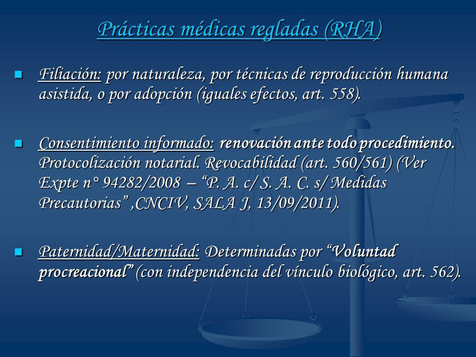 Prácticas médicas regladas (RHA)