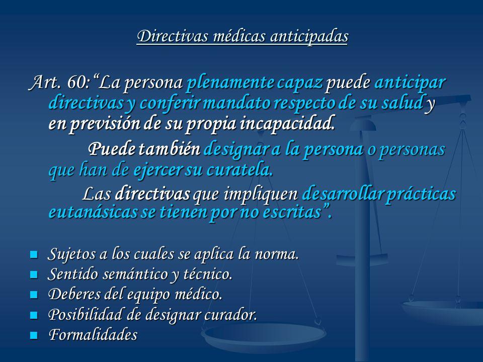 Directivas médicas anticipadas