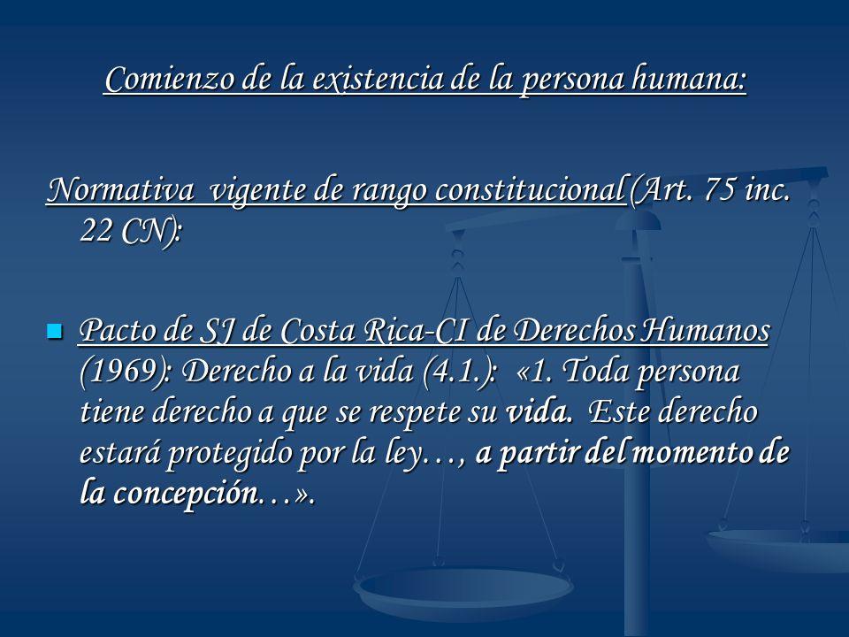Comienzo de la existencia de la persona humana: