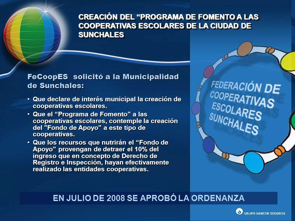 EN JULIO DE 2008 SE APROBÓ LA ORDENANZA