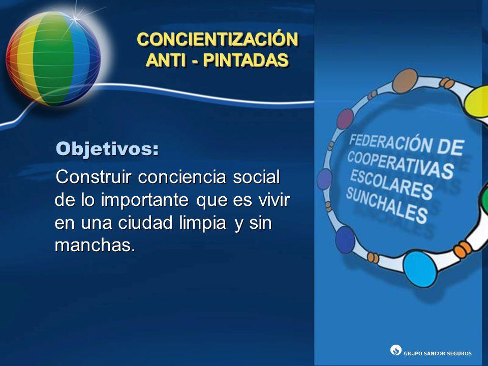 CONCIENTIZACIÓN ANTI - PINTADAS