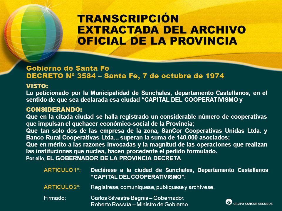 TRANSCRIPCIÓN EXTRACTADA DEL ARCHIVO OFICIAL DE LA PROVINCIA