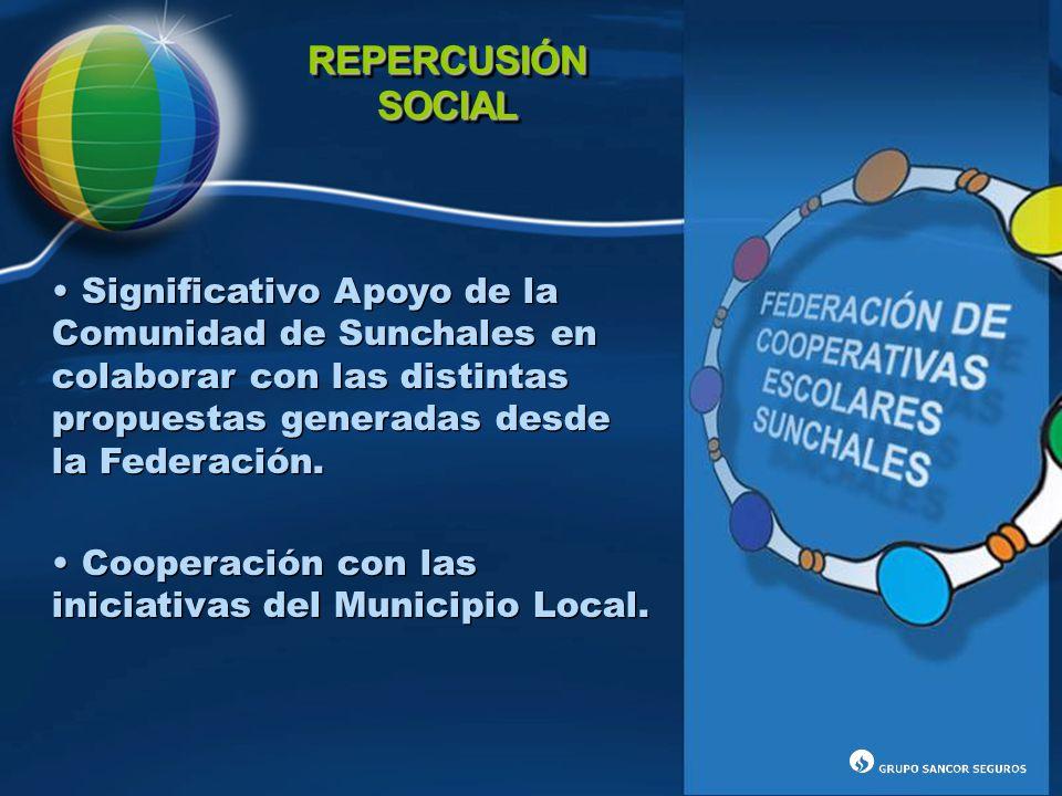 REPERCUSIÓN SOCIAL. Significativo Apoyo de la Comunidad de Sunchales en colaborar con las distintas propuestas generadas desde la Federación.