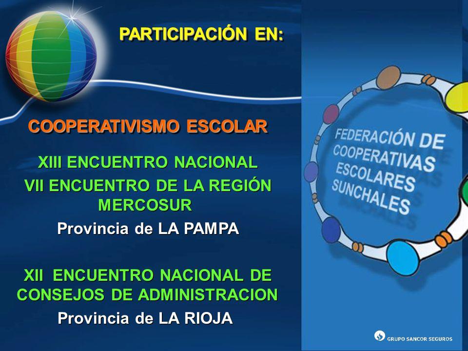 PARTICIPACIÓN EN: COOPERATIVISMO ESCOLAR