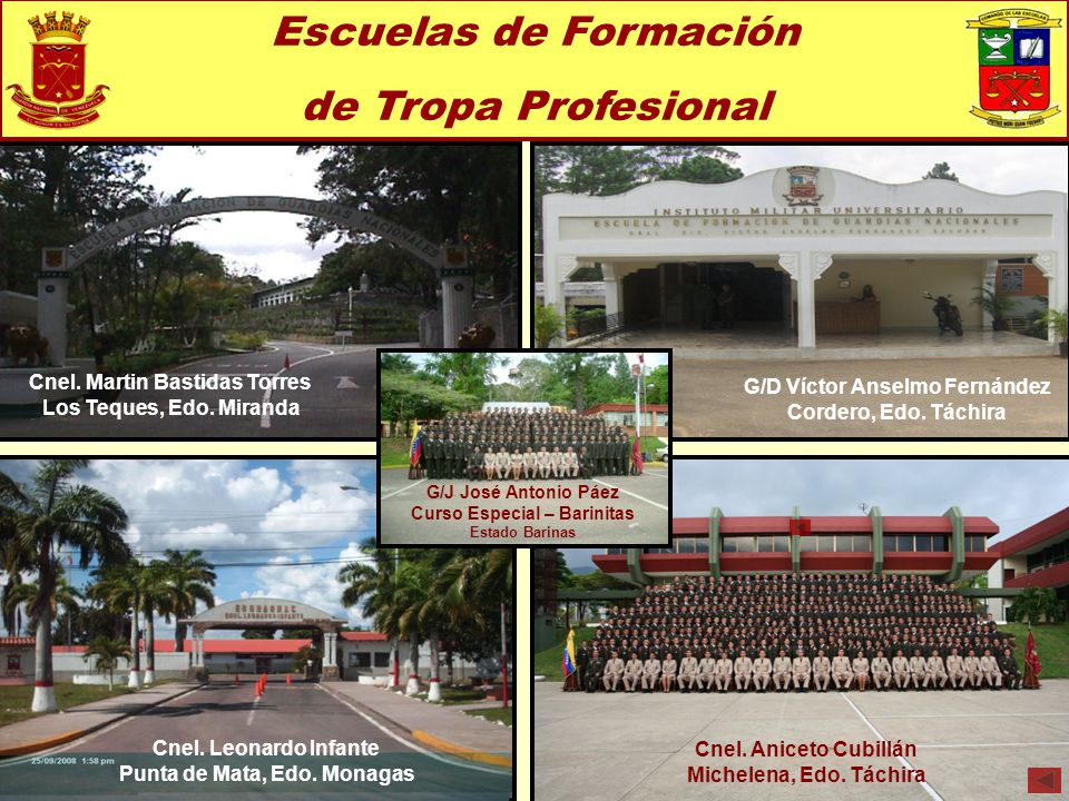 Escuelas de Formación de Tropa Profesional
