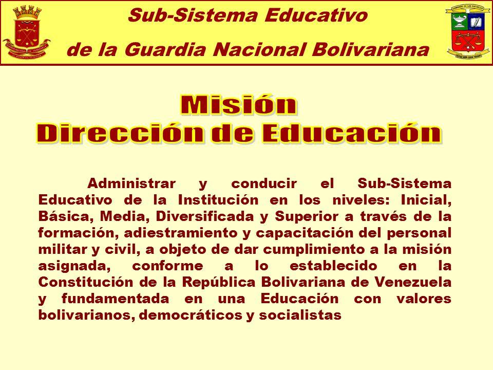 Misión Dirección de Educación