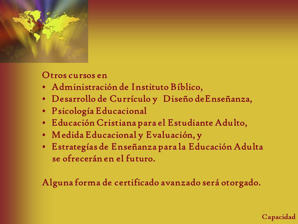 Administración de Instituto Bíblico,