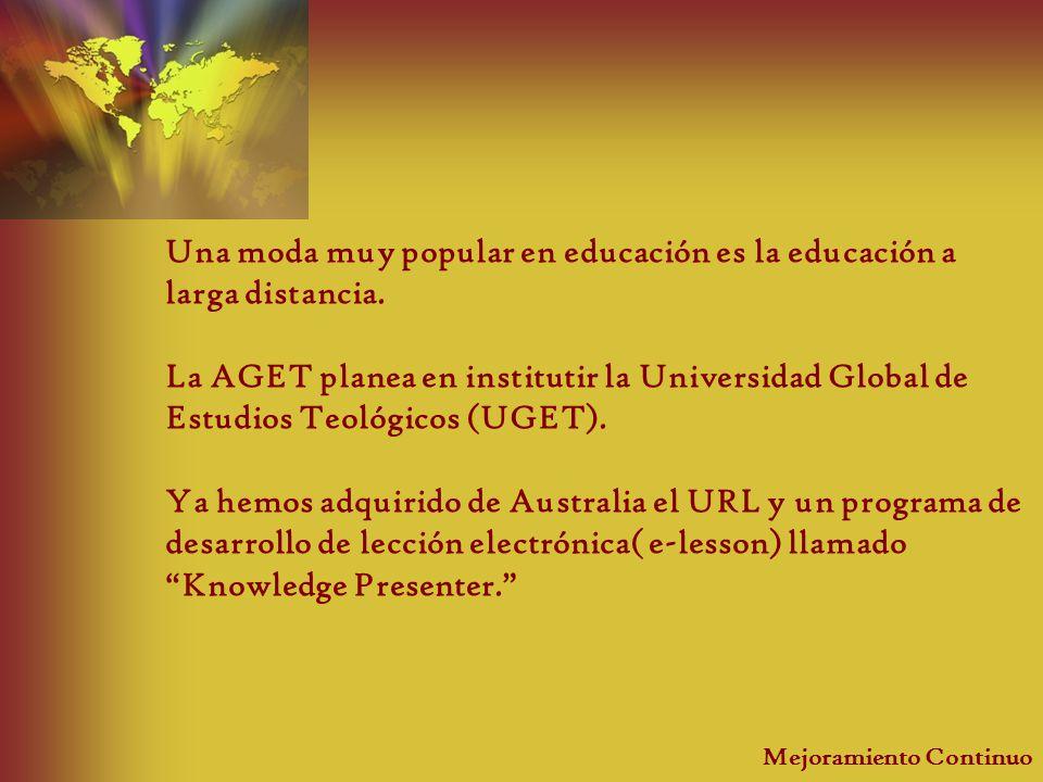 Una moda muy popular en educación es la educación a larga distancia.
