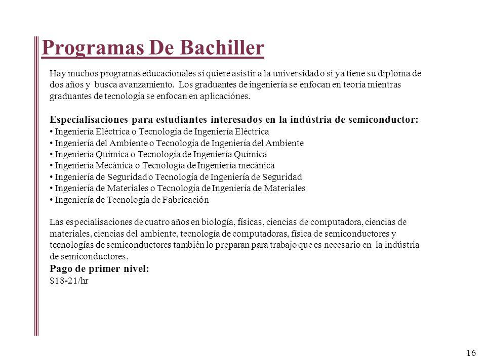 Programas De Bachiller