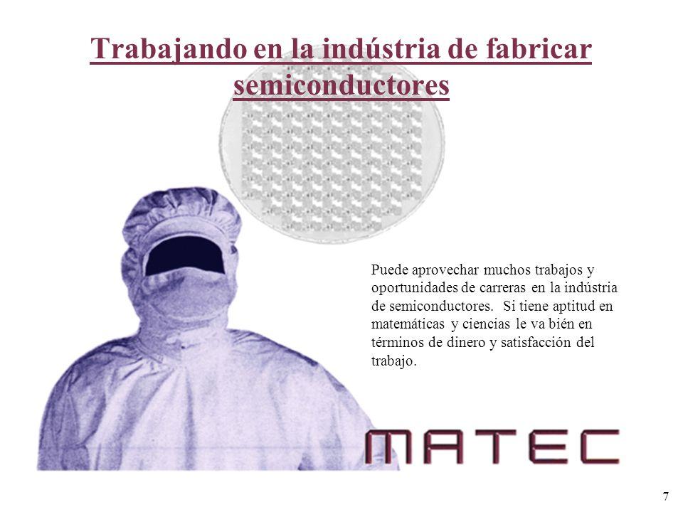 Trabajando en la indústria de fabricar semiconductores