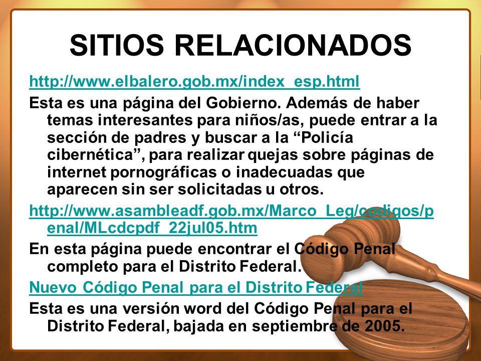 SITIOS RELACIONADOS http://www.elbalero.gob.mx/index_esp.html