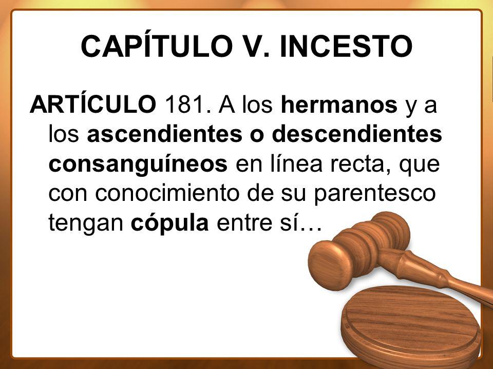 CAPÍTULO V. INCESTO