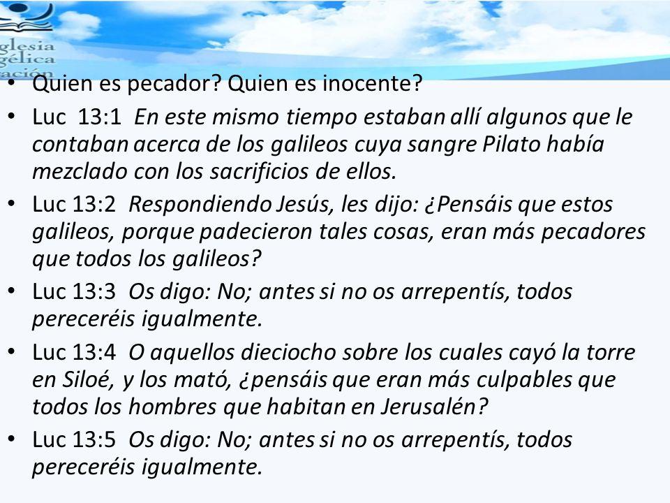 Quien es pecador Quien es inocente